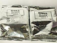 New Genuine 2PK Dell Series 5 M4640 Black Ink Cartridges, Dell 922, 924, BAG