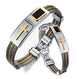 Cool Fashion 316L Stainless Steel Bracelet Strap Jewelry Women Men Bangle Gift