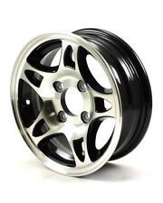 "12X4 4-Lug on 4"" Aluminum S5 Trailer Wheel - Black - S524440B"