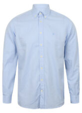 HACKETT OF LONDON MEN'S MINI CHECK FITTED SHIRT IN SKY BLUE / BNWT /