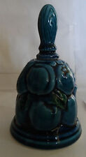 Vintage Inarco Mood Indigo Ceramic Pottery Blue 1960's Collector Bell Japan