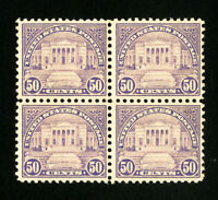 US Stamps # 570 VF/XF Dist OG NH Block 4 Catalog Value $280.00