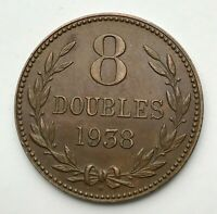 Dated : 1938 - Guernsey - 8 Doubles - Coin - Channel Islands