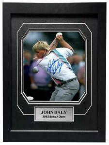 John Daly Signed 8x10 Framed Golf Photo JSA COA Autograph PGA Cigarette in Mouth