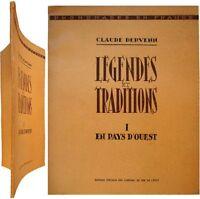 Légendes et Traditions en pays d'Ouest c1938 Claude Dervenn Bretagne Normandie