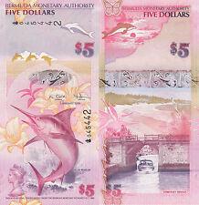 Bermuda 5 Dollars (2009) - Marlin/Bridge/Polymer Hybrid/p58 UNC