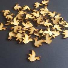 Wooden MDF Bird Shapes,Wedding Family Tree Embellishments 25mm pack of 25