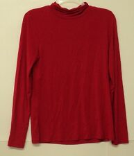 NEW size medium Cable & Gauge knit TURTLENECK red M