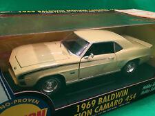 1969 BALDWIN MOTION CAMARO 454 YELLOW 1/18 ERTL ONLY 2500 HOBBY EDITION SERIES.
