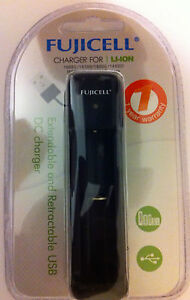 FUJICELL FAST Li-ION CHARGER for 18650, 18350, 18500, 14500, RCR 123A