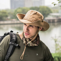 Fashion Unisex Bucket Hat Boonie Hunting Fishing Outdoor Cap Wide Brim Sun Hats