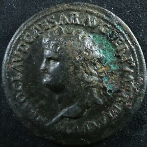 Nero Sestertius 62-68 Annona Ceres Lugdunum RIC 391 Sesterce Néron