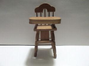 Miniature Dollhouse Wood High Chair