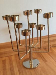Modern Chrome Metal 9 X Tea Light Candle Holder Table Decoration
