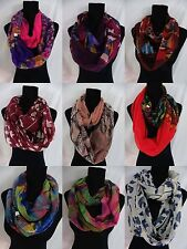 US SELLER-wholesale lot of 10 boho flowers mixed designs infinity scarf Womens