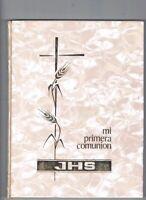 LIBRO MI PRIMERA COMUNION JHS ANTIGUO EDITORIAL VALLES 1967