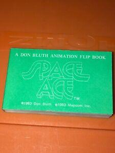 VTG Magicom Don Bluth Animation Flip Book Space Ace Cartoon Green Cover 1983