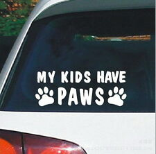 Cute Animal Warning Car Stickers Car Stickers My Kids Have Paws