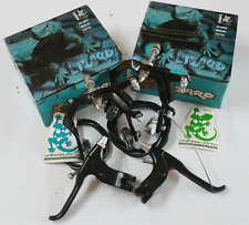 LIZARD ALLOY BMX BRAKES SET Vintage Old School Bicycle Bike Skyway 80s BLACK