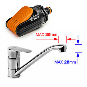 Universal Tap Adapter Connection for Tap - Kitchen Mixer Tap To Garden Hose Pipe