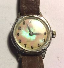 Vintage MARIE ladies chrome plated wristwatch in working order
