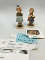 """Goebel Hummel #629 1992 FROM ME TO YOU 3.5""""  &  493 1988 Two Hands, One Treat 4"""""""