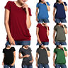 Womens Ladies Pregnancy Short Sleeve T Shirt Summer Blouse Maternity Summer Tops