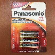 4 Panasonic AAA Pro Power Alkaline Batteries LR03 MX2400 MICRO Longest Expiry
