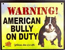 1x BEWARE - APB On Duty dog warning Aluminium Composite Board (8x 6inches)