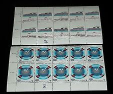 U.N. 1983, VIENNA #31-32, SAFETY AT SEA. INSC. BLKS/10, NICE!! LQQK!!