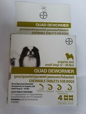 BAYER QUAD DEWORMER SMALL DOGS ( 2 CHEWABLE) EXP 9/2021