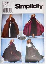 PATTERN for Hooded Cape Cloak Renaissance Steampunk Simplicity 5794 Claire LARP