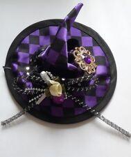 Chapeau de sorcière sorcières VOILETTE violet noir, pinces a cheveux, joli