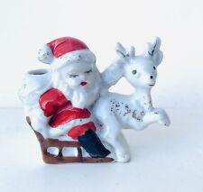 Vintage Porcelin Santa Toothpick Holder Stamped JAPAN🎅🏻🎅🏻🎅🏻