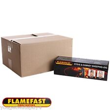 1x Flamefast Stove & Chimney Cleaning Sweeping Log FIRE PLACE STOVE CLEANER