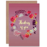 Friendship Thinking Of Flowers Blank Greeting Card With Envelope