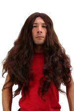 Perücke Heavy Metal Headbanger Thrash Mille Matte Hippie Herren Damen lang braun
