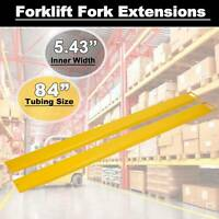 "84"" x 5.8"" Steel Forklift Pallet Fork Extensions For Forklifts and Loaders Truck"