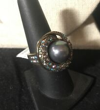 """HEIDI DAUS """"SPARKLING TRADITIONS"""" ROUND RING - SIZE 8 - GRAY"""