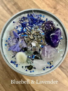 HANDMADE CRYSTAL & ESSENTIAL OIL Soy Candles