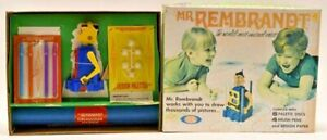 Vintage 1970 Mr. Rembrandt Robot Toy by Ideal Original Box Unused New Condition