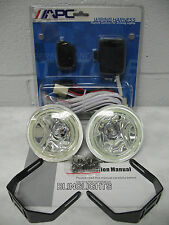 """4"""" Inch Round Blue Angel Eye Fog Driving Lamps Kit + Remote Wiring Harness"""