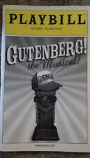 Gutenberg! The Musical! playbill April 2007 & more