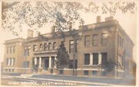 Hastings Montana~High School Under Tree~Postcard RPPC c1910