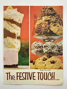 The Festive Touch Recipe Book 1960s MCM Mid Century Modern Food V715