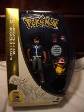 Pokemon SDCC 2016 Ash and Pikachu 20th Anniversary Figures