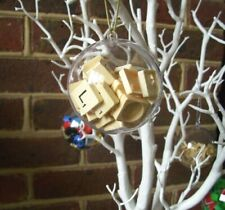 English Gems Bauble with Scrabble® Tiles Christmas Tree Ornament Gift Boxed