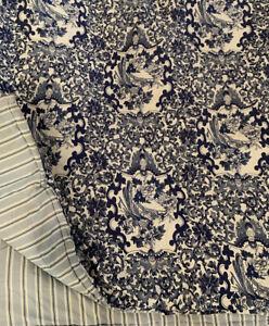 Ralph Lauren Porcelain Tamarind Full Queen Comforter White Blue Oriental Bird