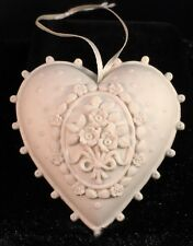 "MARGARET FURLONG Blooming Love 2.5"" Heart Shaped Christmas Ornament 1998"