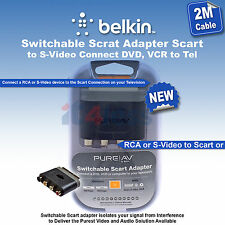 Belkin Switchable Scart to S-Video Adapter connect DVD, VCR or computer to telev